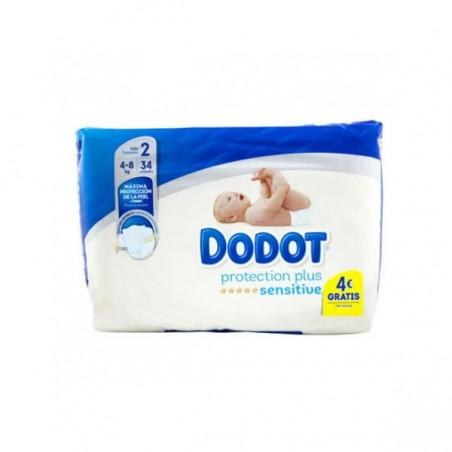 Comprar DODOT SENSITIVE R. NACIDO T2 ( 4-8 KG) 34 UDS