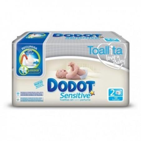 Comprar DODOT TOALLITAS SENSITIVE PACK 2x54 UDS