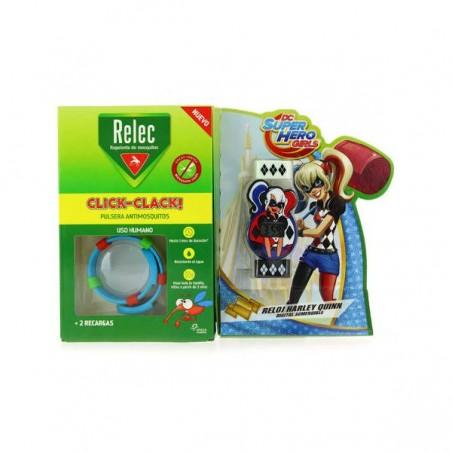 Comprar RELEC PULSERA ANTIMOSQUITOS CLICK-CLACK + RELOJ HARLEY QUINN
