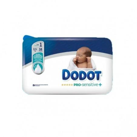 Comprar DODOT PAÑAL PRO SENSITIVE T1 2-5 KG 38 UND