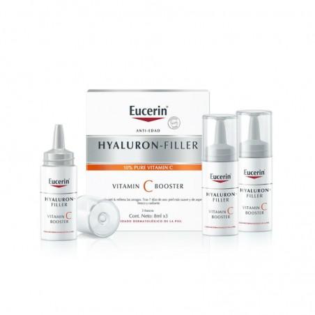 Comprar EUCERIN HYALURON-FILLER VITAMIN C BOOSTER 3 X 8 ML