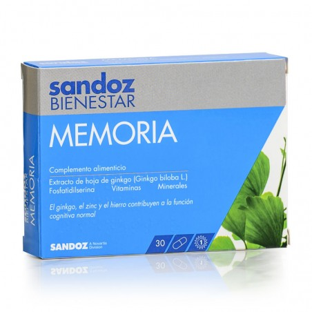 Comprar SANDOZ BIENESTAR MEMORIA 30 CÁPSULAS