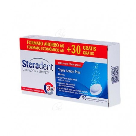 Comprar STERADENT TRIPLE ACCIÓN PLUS 90 COMP