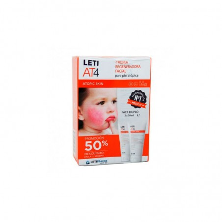 Comprar LETI AT4 CREMA REGENERADORA FACIAL 2 X 50 ML