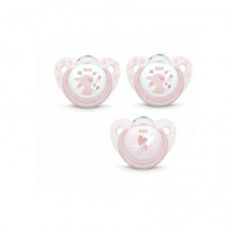 Comprar NUK BABY ROSE & BLUE CHUPETES ROSA LÁTEX 6-18 M 3 UNIDADES