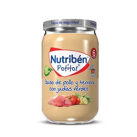 Comprar NUTRIBÉN POTITO GUISO DE POLLO Y TERNERA CON JUDÍAS VERDES 235 G