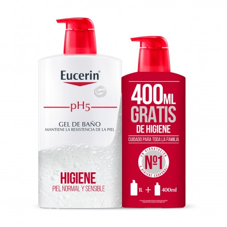 Comprar EUCERIN FAMILY PACK GEL DE BAÑO PH5 1000ML + 400ML GRATIS