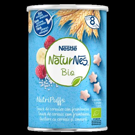 Comprar NESTLE NATURNES BIO NUTRIPUFFS SNACKS DE CEREALES CON FRAMBUESA 35G