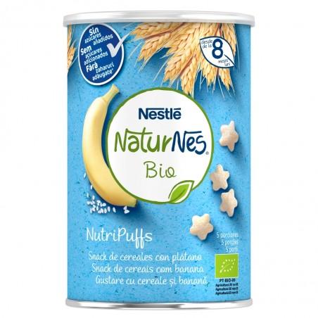 Comprar NESTLE NATURNES BIO NUTRIPUFFS SNACKS DE CEREALES CON PLÁTANO 35G