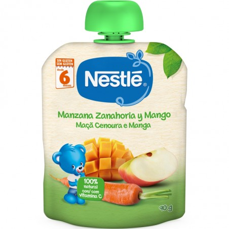 Comprar NESTLÉ BOLSITA MANZANA, ZANAHORIA Y MANGO 90G