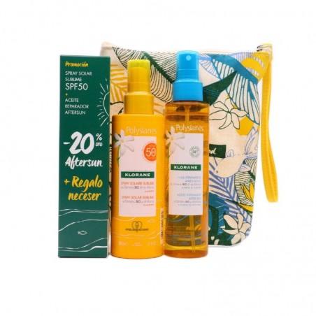 Comprar POLYSIANES PACK SPRAY SOLAR SPF 50 200 ML + ACEITE AFTER SUN 150 ML + REGALO NECESER