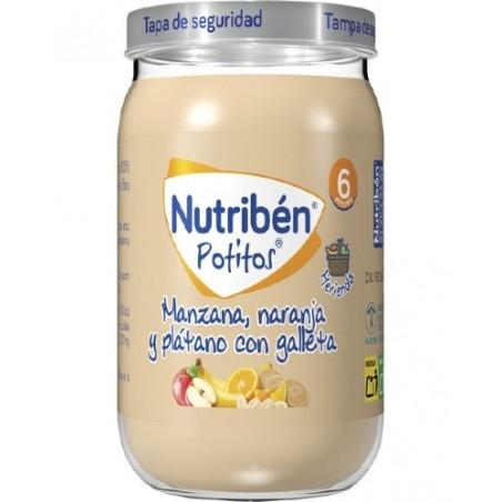 Comprar NUTRIBEN POTITO MANZANA NARANJA Y PLÁTANO CON GALLETAS 190 G