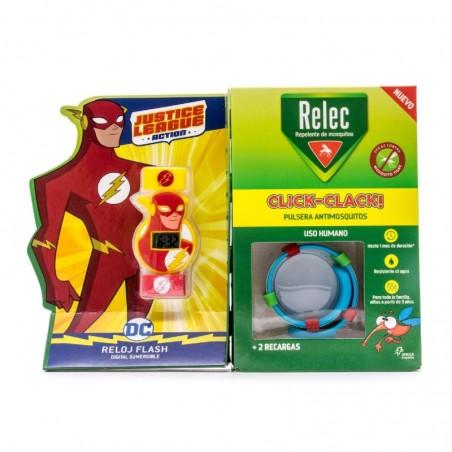 Comprar RELEC PULSERA ANTIMOSQUITOS CLICK-CLACK + RELOJ FLASH