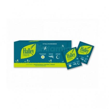 Comprar HALLEY REPELENTE TOALLITAS 8 ML 10 TOALLITAS