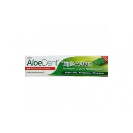 Comprar ALOEDENT triple accion dentifrico con FLUOR 100ml.
