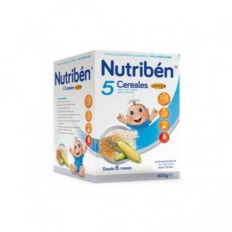 Comprar NUTRIBÉN 5 CEREALES FIBRA 600 G