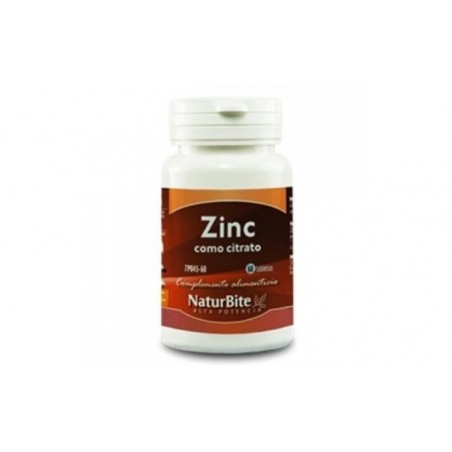 Comprar ZINC 15mg. como citrato 60comp.