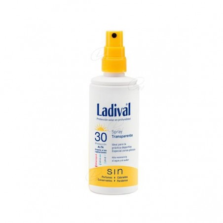 Comprar LADIVAL FOTOPROTECTOR FPS 30 ALTA TRANSPARENTE SPRAY 150 ML