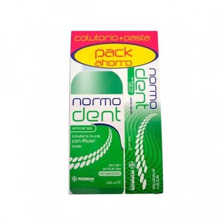 Comprar NORMODENT ANTICARIES PACK COLUTORIO / PASTA