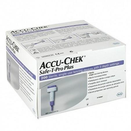 Comprar ACCU-CHEK SAFE-T-PRO PLUS 200 LANCETAS
