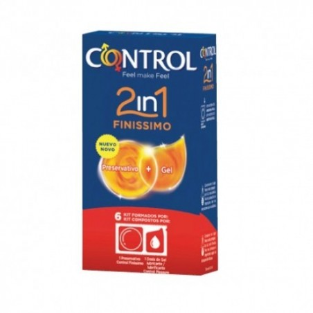Comprar CONTROL 2 EN 1 FINISSIMO PRESERVATIVOS + GEL 6 KIT