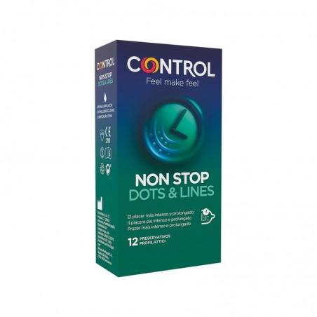 Comprar CONTROL PRESERVATIVOS NON STOP DOTS & LINES 12 UNIDADES