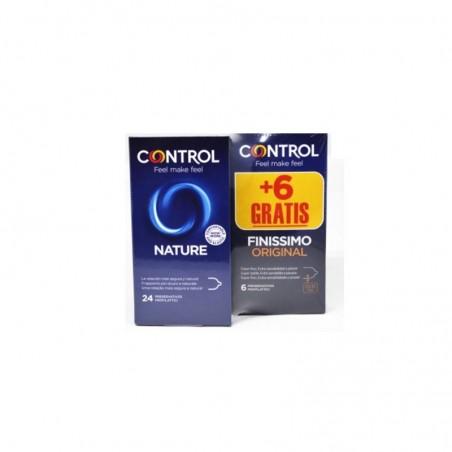Comprar CONTROL PRESERVATIVOS NATURE 24 UNIDADES + 6 UNIDADES FINISSIMO ORIGINAL GRATIS