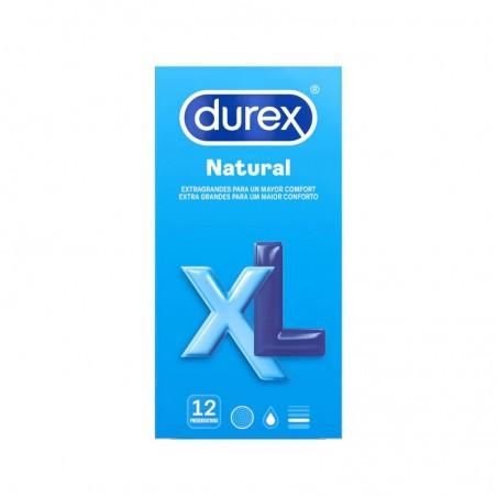 Comprar DUREX PRESERVATIVOS NATURAL XL 12 UNIDADES