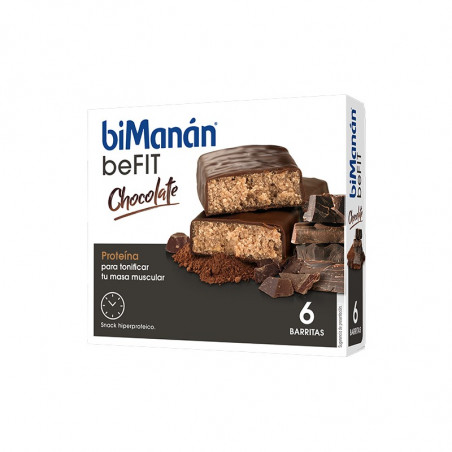 Comprar BIMANÁN BARRITAS BEFIT CHOCOLATE 6 UNIDADES