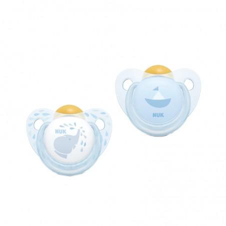 Comprar NUK BABY ROSE & BLUE CHUPETES LÁTEX AZUL 0-6 M 2 UNIDADES