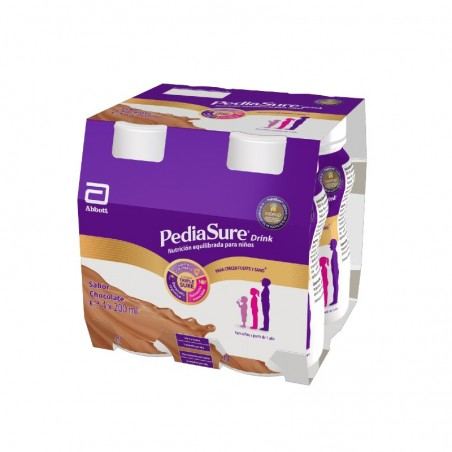 Comprar PEDIASURE DRINK CHOCOLATE 4 X 200 ML