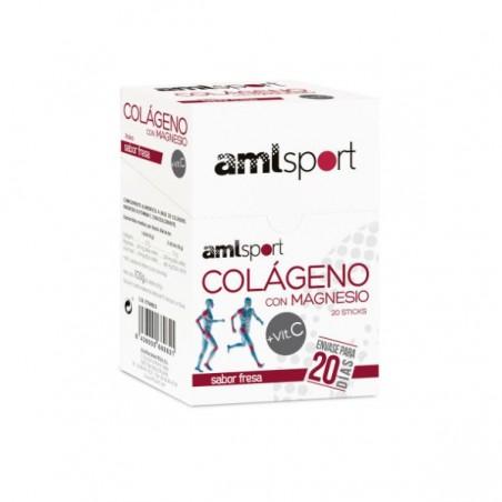 Comprar AMLSPORT COLÁGENO CON MAGNESIO + VITAMINA C 20 STICKS
