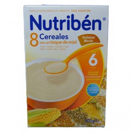 Comprar 8 CEREALES Y MIEL FIBRA NUTRIBÉN 300 G