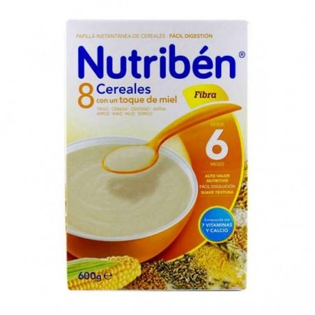 Comprar 8 CEREALES Y MIEL FIBRA NUTRIBÉN 600 G