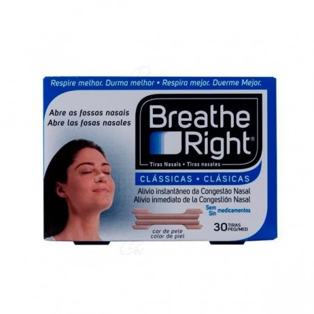 Comprar TIRA NASAL BREATHE RIGHT COLOR T - GDE 30 UDS
