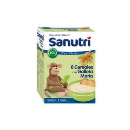 Comprar SANUTRI PAPILLA 8 CEREALES CON GALLETA MARÍA 600 G